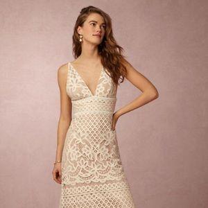BHLDN stylestalker cream lace lani maxi